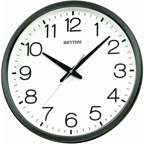 Rhythm (Japan) Plastic Round Clock Value Added Wall Clock 3D Numerals, Silent Silky Move, Injection Color Frame, Plastic Case Analogue ⌀36x36x5.0cms